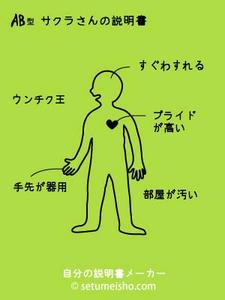 血液型,自分の説明書,AB型自分の説明書