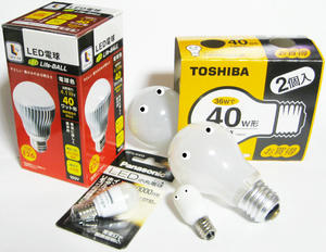 LEDと古電球