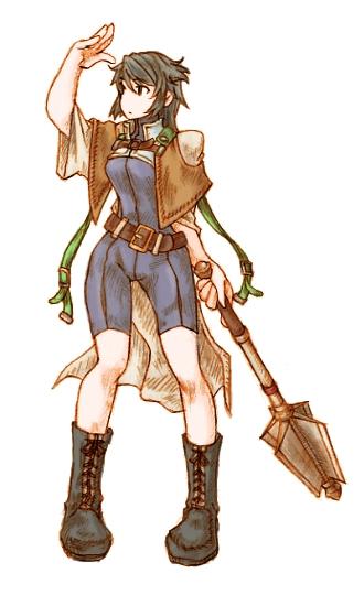 レクシィ・ドライヘキサ (LXY=TriHexa):???(天聖暦1022年~???)   灰色の君。    千年都市ガウディにはいくつかの機関が存在している。   記録ギルド、冒険者ギルド、魔術学院、評議会、 エリウス神殿、そして盗賊ギルド…   冒険者であれば必ずそのいずれかに所属している扱いになる。   しかし、中には複数の機関に籍を置く例外も存在する。 彼女は記録ギルドの職員でありながら、道化(盗賊ギルド)にも所属していたというかなりの変り種である。   だがその特異性に反して彼女についての資料は非常に少なく、 ―曰く、メイスの使い手である、 ―曰く、ある指輪型の魔導器を所持していた、 と断片的な記録が出てくるのみである。   また吟遊譚の一節に彼女のことを謳ったであろう『灰色の君』という楽曲があるが、これがまた難解な詩であり、今日に至るまで研究者の頭を悩ます一遍である。