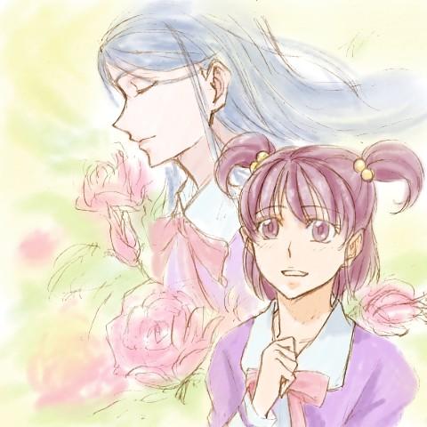 青薔薇様「のぞみ、タイが曲がっていてよ」 青薔薇のつぼみ「かれんお姉様・・・」