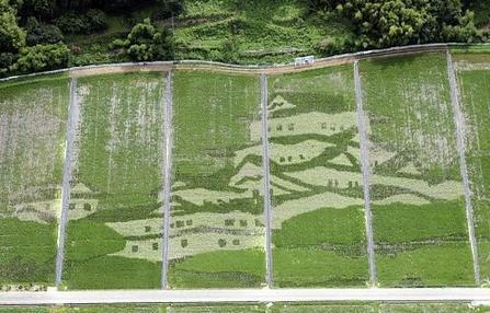 稲で描いた白鷺城