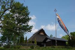 有馬富士公園内の茅葺古民家