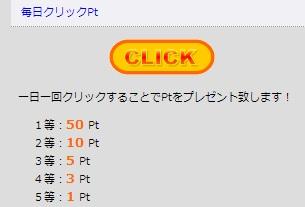 Good-Luck11.info 毎日クリックpt 2日連続の10pt獲得