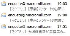 アンケートサイト マクロミルの紹介