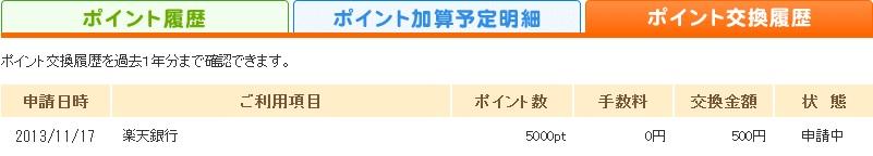 warau.jp やっと換金出来ました。