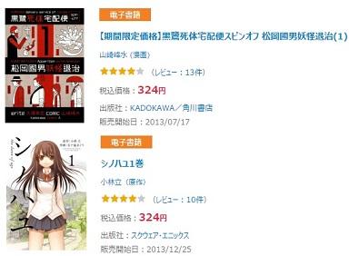 電子書籍のhonto324円
