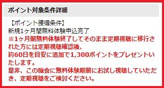 DAZN【ダゾーン】ポイント獲得条件