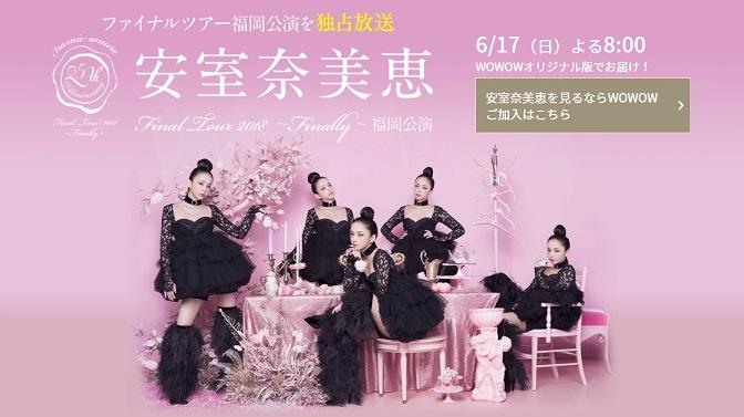 まだ間に合う!WOWOWで安室奈美恵のファイナルツアーをタダで視聴する裏技。