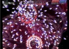 咲夜のスペル 自機周辺に突如出現する赤ナイフがプレイヤーを激しく圧迫する!