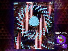 8-4は早苗さん これがまた常識破りの酷い弾幕で、レーザーの隙間がほとんどない!