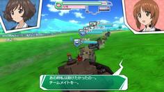 序盤は味方車両がプレイヤーの車両についてくる 全8両編成で数が多い(^^)