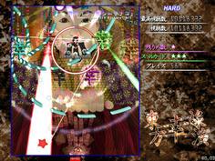 機神「ファルシ=サチコ」 弾幕を放つオプションは破壊可能だがすぐに復活する