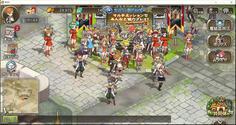 ユーザー同士が集まる城下町ではこんなに多くのアバターがいてビックリ!これはオンラインならではのワクワク感ですね♪