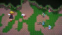 ルーミアは妖怪でゴッドウェポンの強打が入るので、ファイナルフィンガーで大ダメージ!
