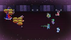 後列の永琳にはにとりの武器で強打が入るが、ランダムターゲットだと前列の鈴仙に攻撃が流れがちに