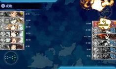 時雨の魚雷カットインがボス旗艦に突き刺さり撃沈させた!!!奇跡の瞬間である!!!!