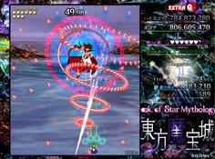 通常弾幕 斬撃から弾幕を発生させる真田丸の基本形
