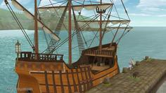 遂に完成したトトリの船!小舟みたいなのを想像してたんだけど全然違って大きい!