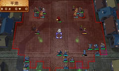 敵将の攻撃範囲内に入ると防陣を組んだ敵が4組出現!これには少し驚いた