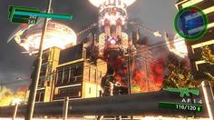 マザーシップより発射されたジェノサイド砲が一瞬で町を火の海に!!もうおしまいだあーー!!!