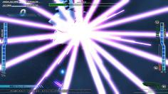 マザーシップのジェノサイド砲から全方位に極太レーザーが放たれる!美しいが、恐ろしい!