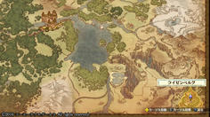 ライゼンベルグはメチャクチャ遠かった!エルトナから見てワールドマップの丁度対角だよ!