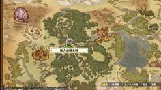次のエリアの旅人の雑木林からはいくつもラインが伸びている ここから複数のエリアに進めるのかな?