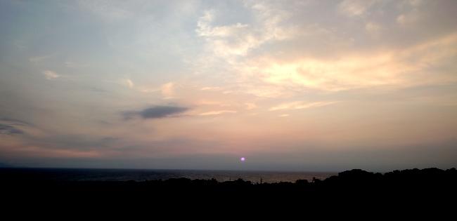 牧川の夕焼け