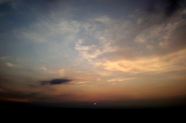 牧川の夕日