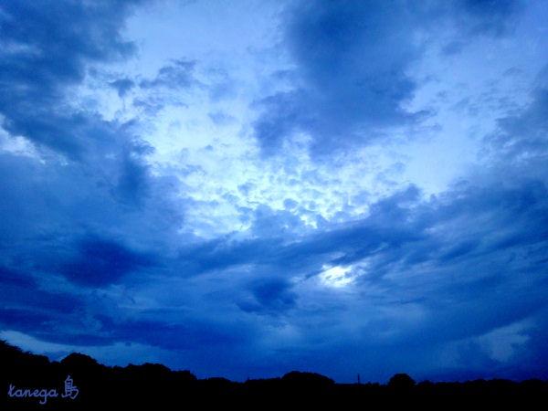 田島の夕空