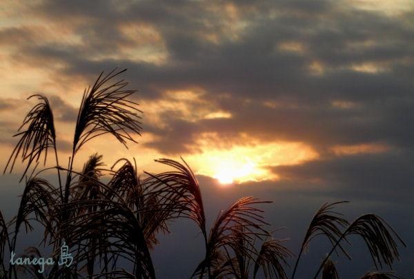 島間の夕空