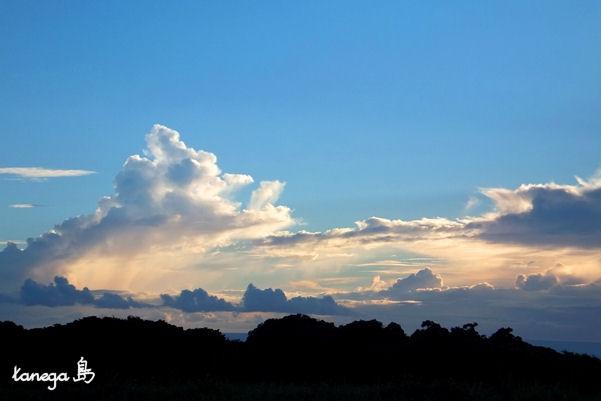 牧川の夕景