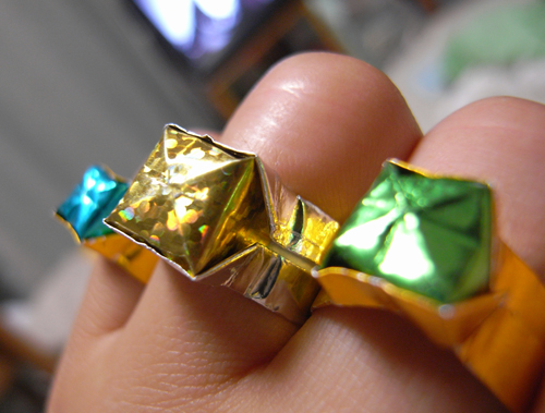 クリスマス 折り紙 指輪 折り紙 : makkaritusin.blog.shinobi.jp