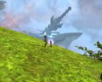 アビスへるーさんと行きました。上層アステリアからの剣の島の展望!
