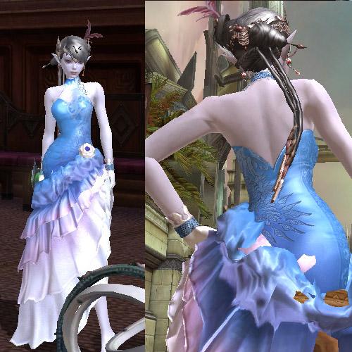 とてもきれいなドレスです。たてがみないけど!w