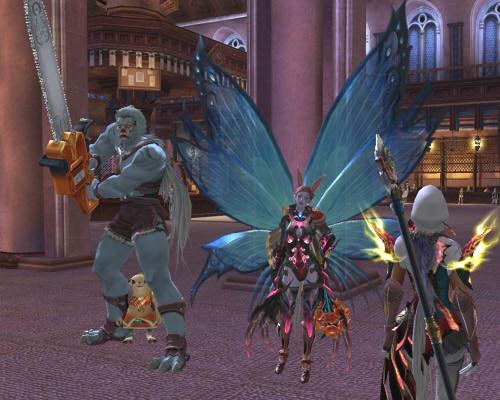 妖精盾さんと、チェンソーな盾さん