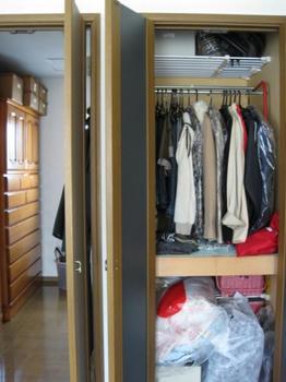 大掃除・整理・収納:クローゼットの大掃除前