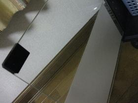 大掃除、整理、収納/テレビ台の扉に目隠し保護シート