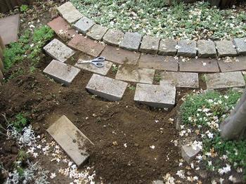 mukuの庭/レンガ敷き