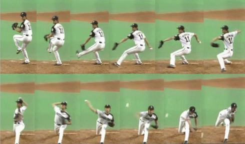 少年野球 投手 理想の投球フォーム ケース1を紹介