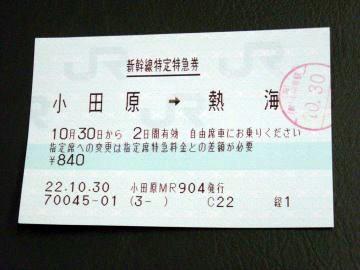 熱海チェックポイントへのチケット