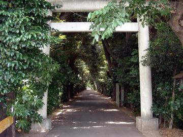 久伊豆神社 参道入り口の鳥居