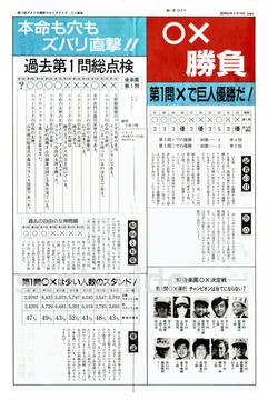 第11回ウルトラクイズ ○×予想紙 01