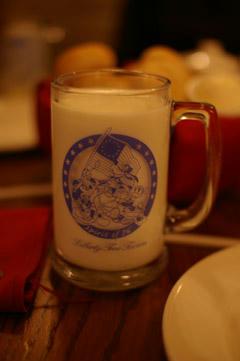 ジョッキ牛乳
