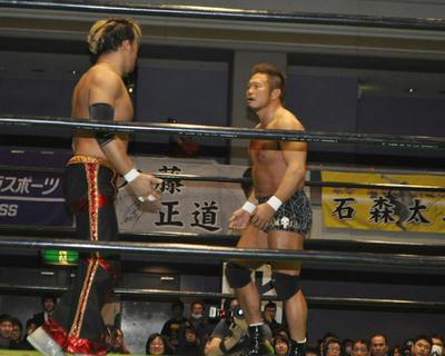 丸藤 原田 小峠vs杉浦 タイチ TAKA