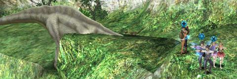 オッサン恐竜。