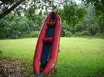 二人乗りの、小型ボートでのラフティング!