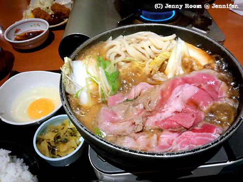 牛すきうどん鍋定食