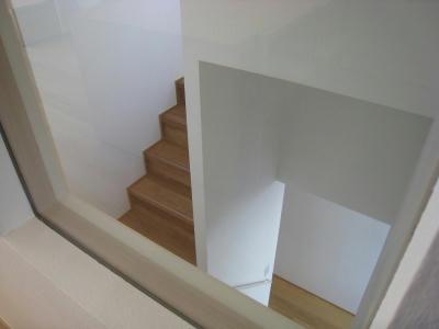 階段室をのぞく