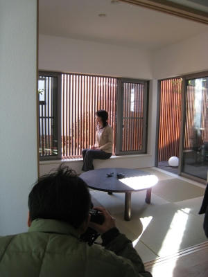 A棟和室での撮影